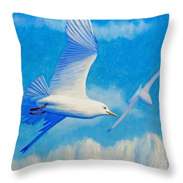 All Fly Home Throw Pillow by Brian  Commerford
