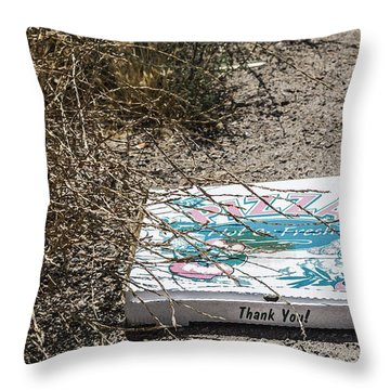 Throw Pillow featuring the digital art All Gone by Photographic Art by Russel Ray Photos