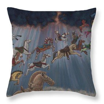 All Good Horses Go To Heaven Throw Pillow