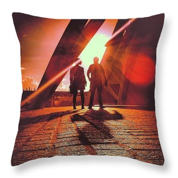 All Hale - The Dawn Of The New Super Throw Pillow