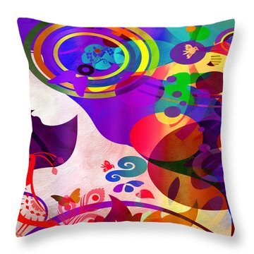 All Her Wonder 2 Throw Pillow by Angelina Vick