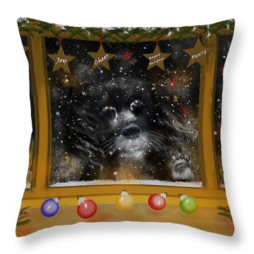 All I Want For Christmas Is A Loving Home Throw Pillow
