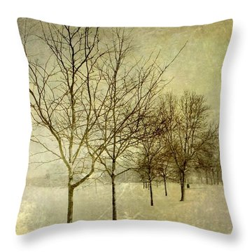 All In A Row Throw Pillow by Leah Moore