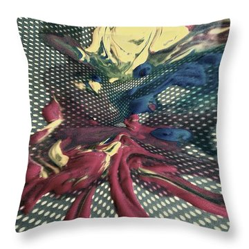 All In Throw Pillow by Jacqueline McReynolds