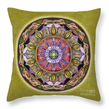 All Is Well Mandala Throw Pillow