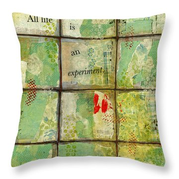 All Life...abstract Art Throw Pillow by Blenda Studio