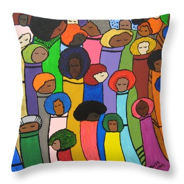 All Of Us Throw Pillow by Clarissa Burton