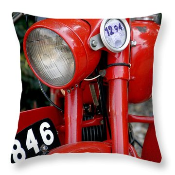 All Original English Motorcycle Throw Pillow