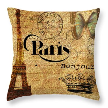 All Paris All The Time Throw Pillow by Greg Sharpe