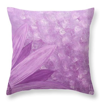 All Purple Flower Throw Pillow