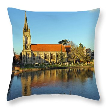 All Saints Church Marlow Throw Pillow