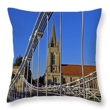 All Saints Church Throw Pillow