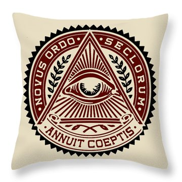 Throw Pillow featuring the digital art All Seeing Eye by Vagabond Folk Art - Virginia Vivier