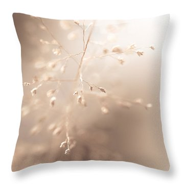 All Tenderness. Grass Art Throw Pillow by Jenny Rainbow