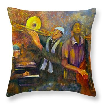 All That Jazz Throw Pillow by Loretta Luglio