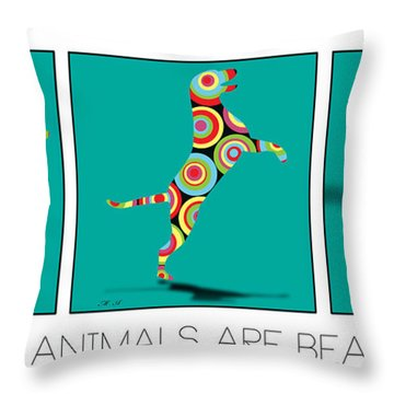 All The Animal Are Beautiful  Throw Pillow by Mark Ashkenazi