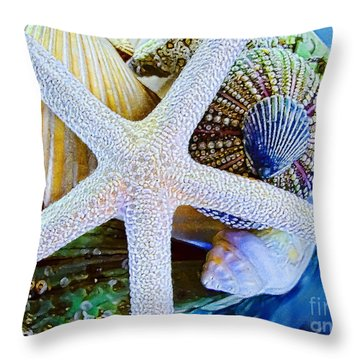 All The Colors Of The Sea Throw Pillow
