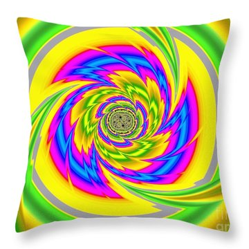 All The Colours Throw Pillow