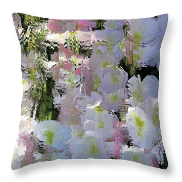 All The Flower Petals In This World Throw Pillow by Kume Bryant