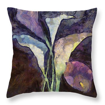 Throw Pillow featuring the painting All The Sadness by Joe Misrasi