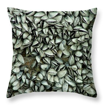 All The Shells Throw Pillow