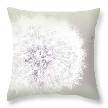 All Things Are Possible... Throw Pillow by The Art Of Marilyn Ridoutt-Greene