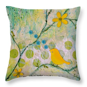 All Things Bright And Beautiful Throw Pillow by Carla Parris