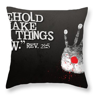 All Things New Throw Pillow