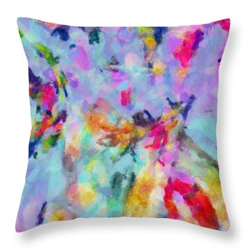 Throw Pillow featuring the painting All Those Good Things by Joe Misrasi