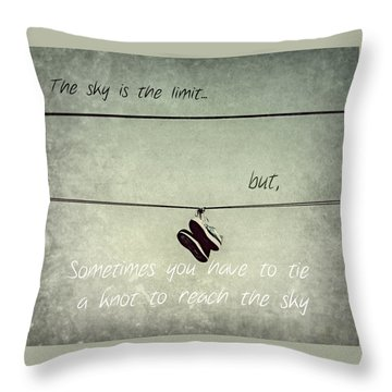 All Tied Up Inspirational Throw Pillow by Melanie Lankford Photography