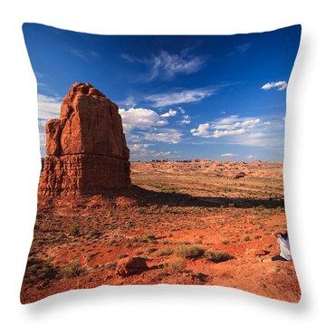 All To Myself Throw Pillow by Jonathan Gewirtz
