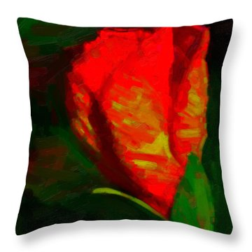 Throw Pillow featuring the painting All Went Wrong by Joe Misrasi