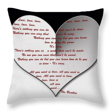 All You Need Is Love Digital Painting Throw Pillow
