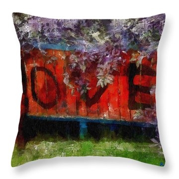 All You Need Is... Throw Pillow by RC deWinter