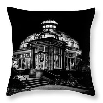 Allan Gardens Conservatory Palm House Toronto Canada Throw Pillow