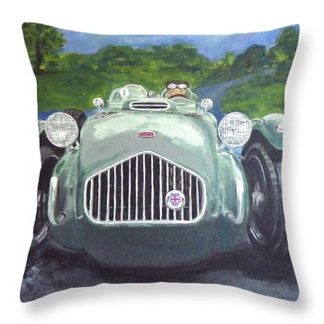 Throw Pillow featuring the painting Allard J2x by Anna Ruzsan