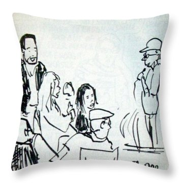 Alleged Comedy At Clarion Modesto  Throw Pillow by James Christiansen