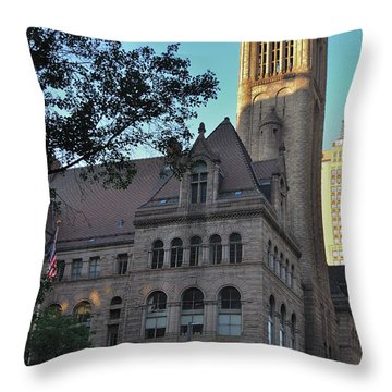 Throw Pillow featuring the photograph Allegheny County Courthouse by Steven Richman