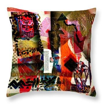 Allegories Of Liberty Throw Pillow
