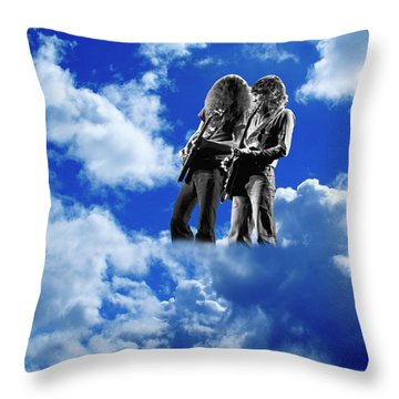 Throw Pillow featuring the photograph Allen And Steve In Clouds by Ben Upham