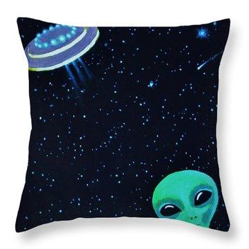 Allen The Alien 2 Throw Pillow