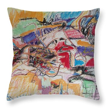Allenby Abstract Throw Pillow by Esther Newman-Cohen
