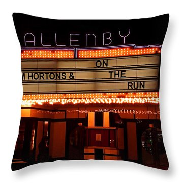 Allenby Theatre 1215 Danforth Throw Pillow