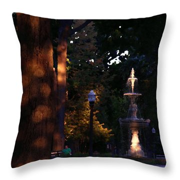 Allentown Pa Dusk At West Park Throw Pillow