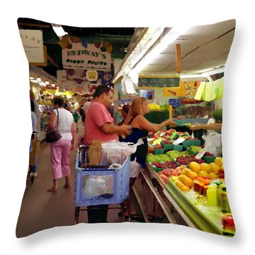 Allentown Pa Farmers Market Throw Pillow