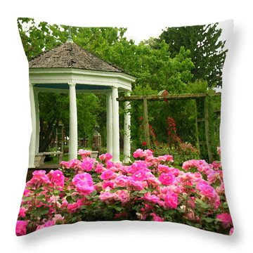 Allentown Pa Gross Memorial Rose Gardens Throw Pillow by Jacqueline M Lewis