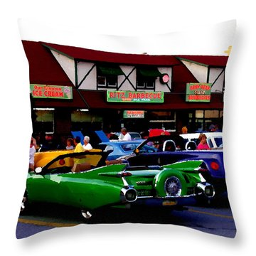 Allentown Pa Meetin' At The Ritz Throw Pillow by Jacqueline M Lewis