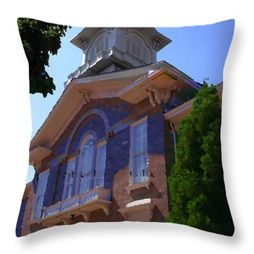 Allentown Pa Old Lehigh County Court House Throw Pillow
