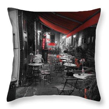 Alley Cafe Throw Pillow