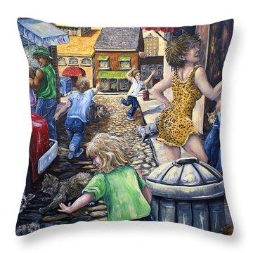 Alley Catz Throw Pillow